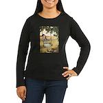 Girl on a Swing Women's Long Sleeve Dark T-Shirt