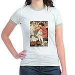 Little Girl Sewing Jr. Ringer T-Shirt