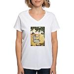 Girl on a Swing Women's V-Neck T-Shirt
