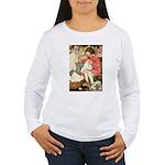 Little Girl Sewing Women's Long Sleeve T-Shirt