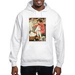 Little Girl Sewing Hooded Sweatshirt