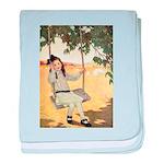 Girl on a Swing baby blanket