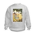 Girl on a Swing Kids Sweatshirt