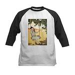 Girl on a Swing Kids Baseball Jersey