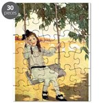 Girl on a Swing Puzzle