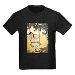 Girl on a Swing Kids Dark T-Shirt
