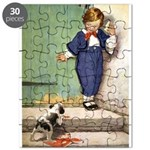 A Boy and His Puppy Puzzle