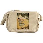 Girl on a Swing Messenger Bag