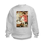 Little Girl Sewing Kids Sweatshirt