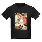 Little Girl Sewing Kids Dark T-Shirt
