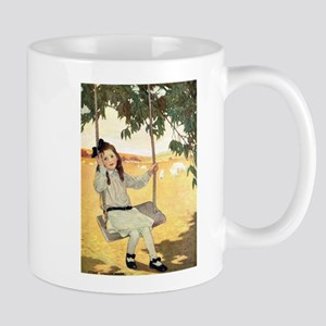 Girl on a Swing Mug