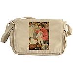 Little Girl Sewing Messenger Bag