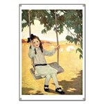 Girl on a Swing Banner