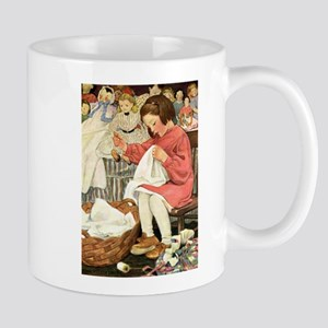 Little Girl Sewing Mug