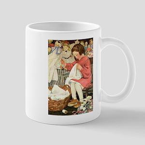 Little Girl Sewing Mug