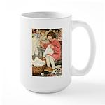 Little Girl Sewing Large Mug