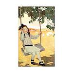 Girl on a Swing Sticker (Rectangle 50 pk)