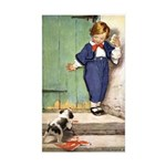 A Boy and His Puppy Sticker (Rectangle 10 pk)