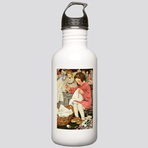 Little Girl Sewing Stainless Water Bottle 1.0L
