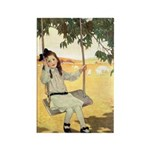 Girl on a Swing Rectangle Magnet (10 pack)
