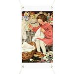 Little Girl Sewing Banner