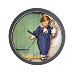 A Boy and His Puppy Wall Clock