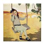 Girl on a Swing Tile Coaster