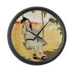 Girl on a Swing Large Wall Clock