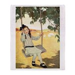 Girl on a Swing Throw Blanket