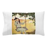 Girl on a Swing Pillow Case