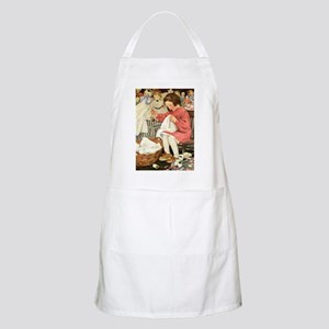 Little Girl Sewing Apron
