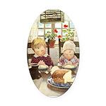 Children Saying Grace Oval Car Magnet