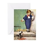 A Boy and His Puppy Greeting Cards (Pk of 20)