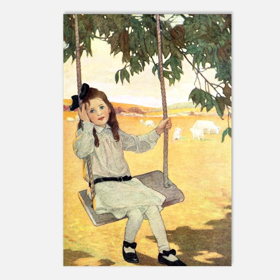 Girl on a Swing Postcards (Package of 8)