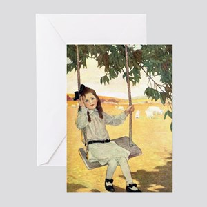 Girl on a Swing Greeting Cards (Pk of 10)