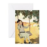Girl on a Swing Greeting Cards (Pk of 20)