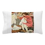 Little Girl Sewing Pillow Case