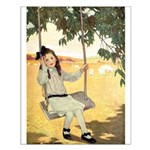 Girl on a Swing Small Poster