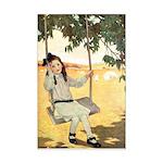 Girl on a Swing Mini Poster Print