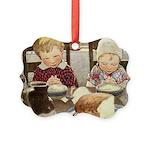 Children Saying Grace Picture Ornament