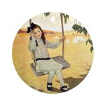 Girl on a Swing Ornament (Round)