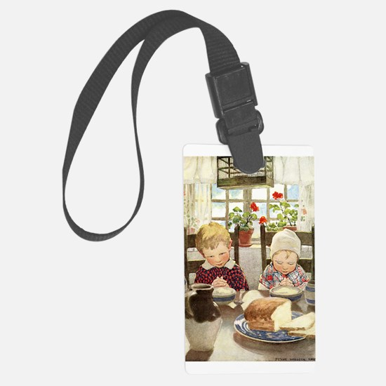Children Saying Grace Luggage Tag
