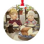 Children Saying Grace Round Ornament