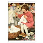 Little Girl Sewing Large Poster