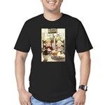 Children Saying Grace Men's Fitted T-Shirt (dark)