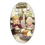 Children Saying Grace Sticker (Oval)