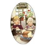 Children Saying Grace Sticker (Oval 10 pk)