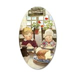 Children Saying Grace 35x21 Oval Wall Decal