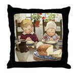 Children Saying Grace Throw Pillow