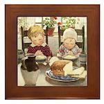 Children Saying Grace Framed Tile